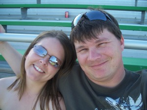 Me and Kevin at Clarksville Fox Football Game June 2009