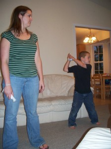 CJ beating me on the Wii